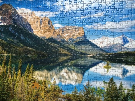 Jig Saw puzzle of St Mary Lake at Glacier National Park