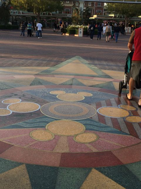 Disneyland compass entrance