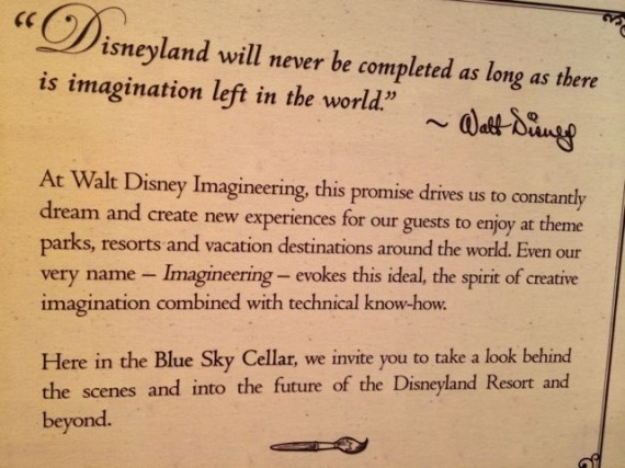 Walt Disney quote about change and Imagineering
