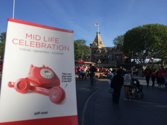 Midlife Celebration book at Disneyland Town Square
