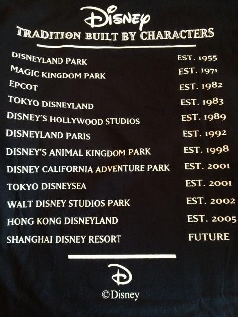 Disney Cast Member exclusive tee shirt