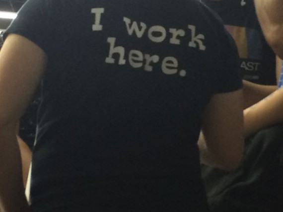I work here t-shirt
