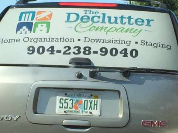 Small business entrepreneurs use their vehicles to promote