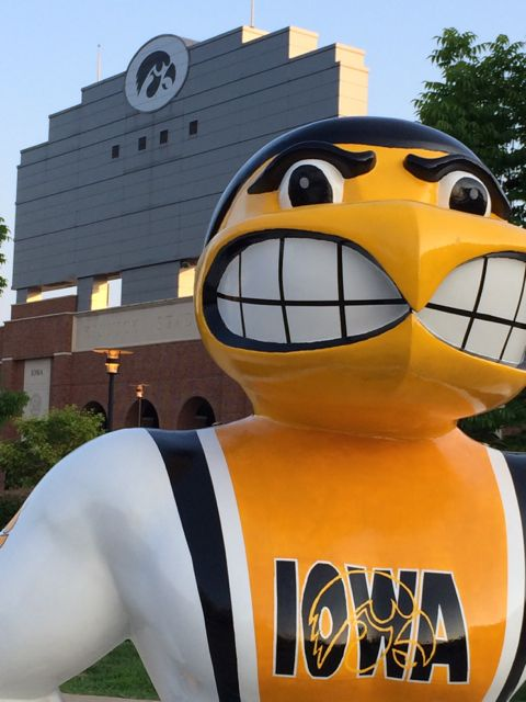 University of Iowa mascot Herky statue