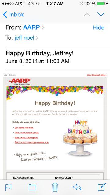 AARP birthday wish