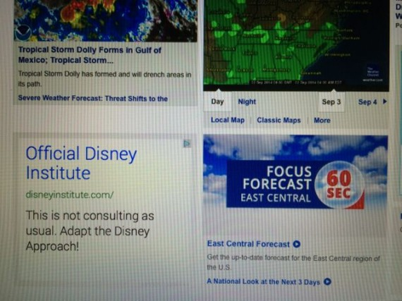 weather.com screen shot advertisements