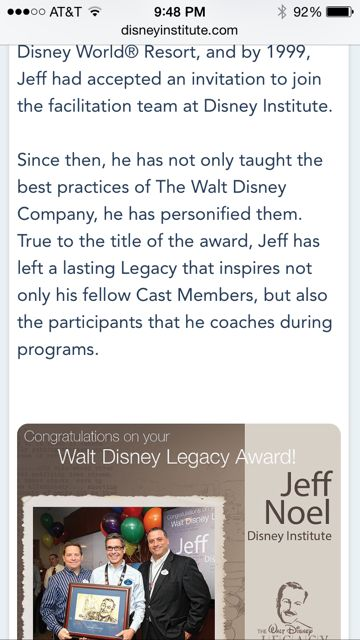Walt Disney Legacy Award recipients