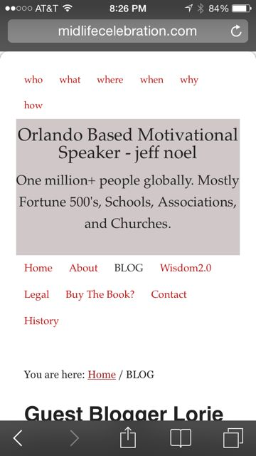 orlando based motivational speaker website on mobile
