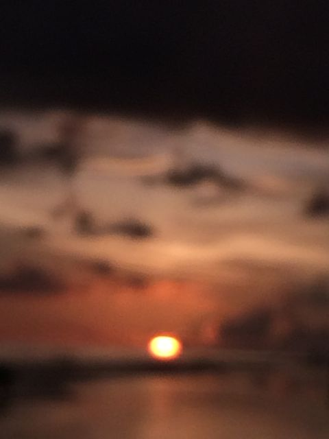 Blurry Sanibel sunset photo