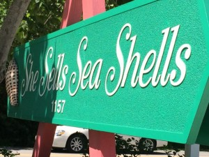 She Sells Sea Shells storefront sign on Sanibel Island