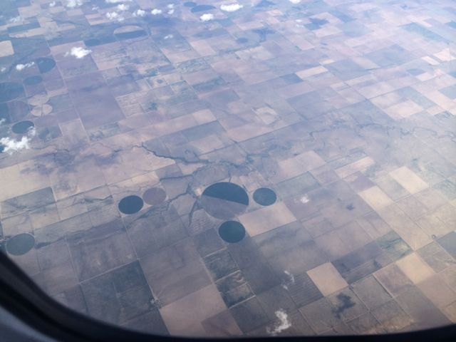 Mickey Mouse shape in midwestern farm field from 35k feet