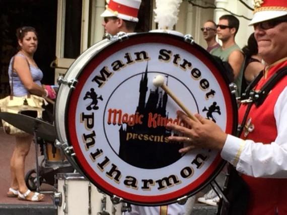 Disney Marching Band on Main Street