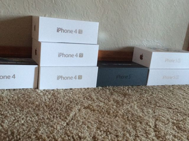 Boxes of iPhones