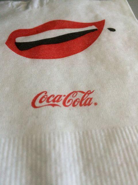 Coca Cola napkin