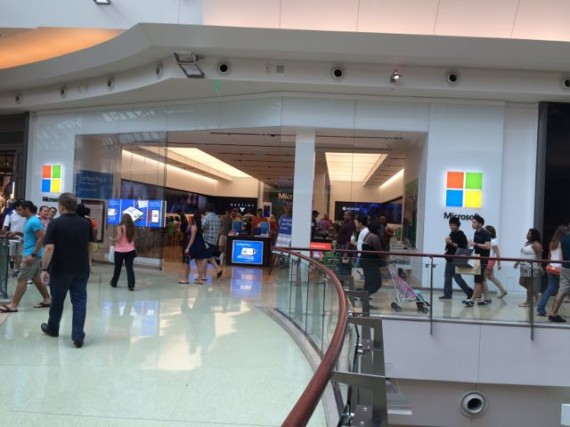 Microsoft store on a busy Sunday