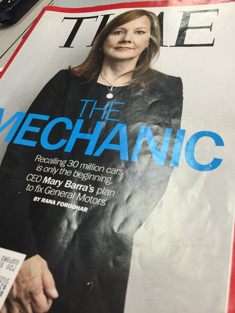 Time Magazine cover with Mary Barra