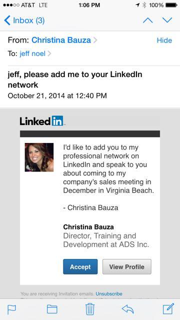 LinkedIn work referral