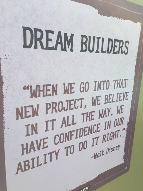 Walt Disney quote on Disney's Animal Kingdom wall