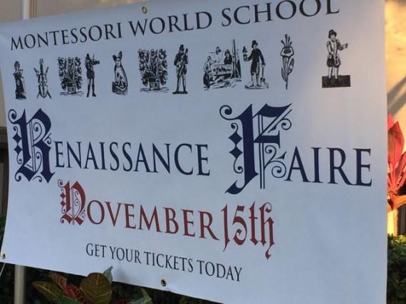 Renaissance Fair sign