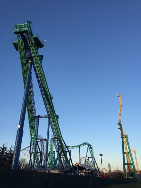 Dorney Park Roller Coasters in Winter
