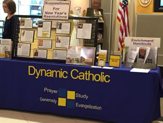 Dynamic Catholic booth in Narthex.