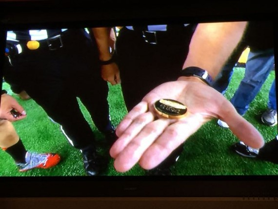 First College National Championship Game coin toss