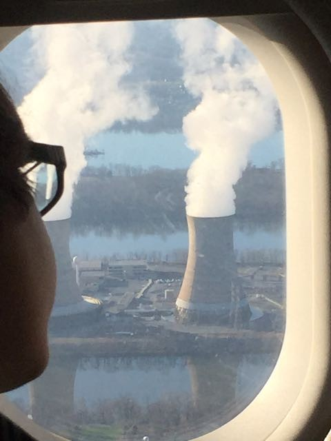Three Mile Island from airplane