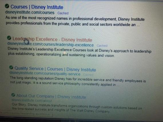 Disney Institute Course list