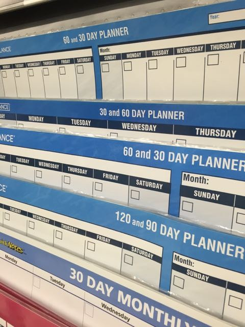 Office Max calendar section
