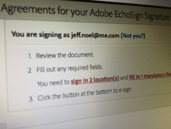 Echo sign contract