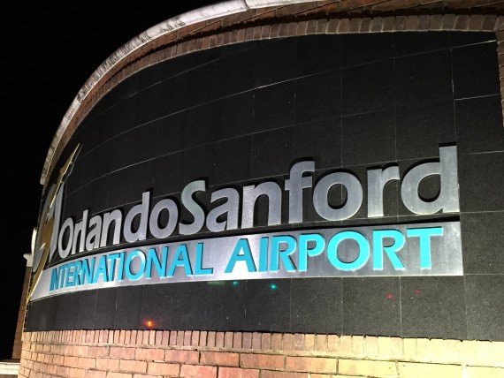 Orlando Sanford airport entrance sign