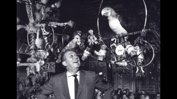 Walt Disney and the Tiki birds photo