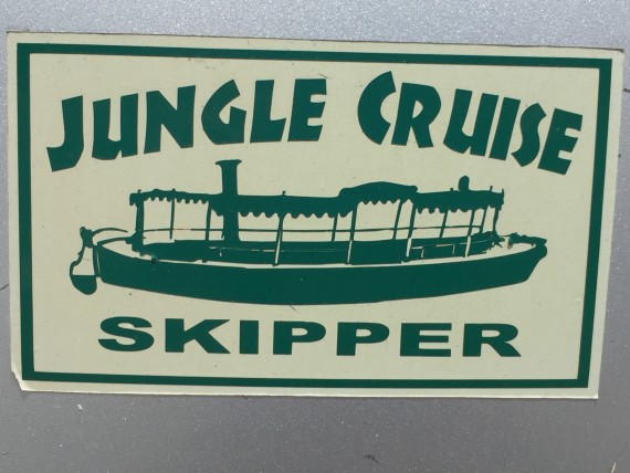 Disney Jungle Cruise boat bumper sticker