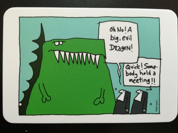 MOO Business card featuring Gapingvoid art