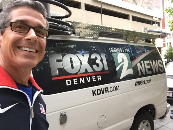 Fox 31 news van, Denver Colorado