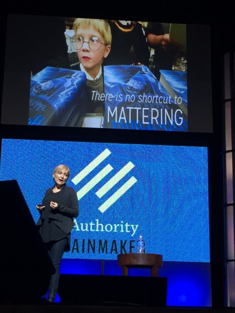 Bernadette Jiwa speaking at Authority Rainmaker 2015