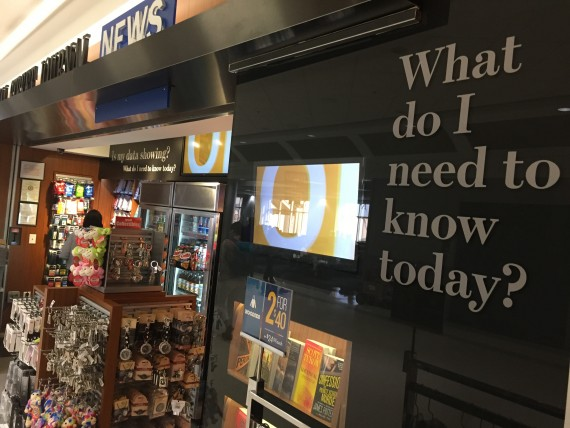 Airport bookstore sign