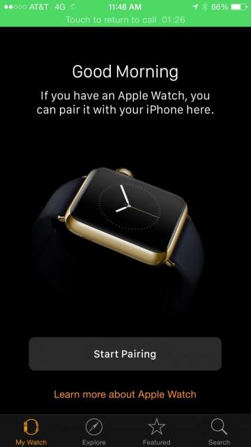 Apple Watch pairing
