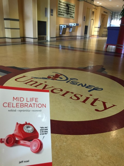 Mid Life Celebration book at Disney University