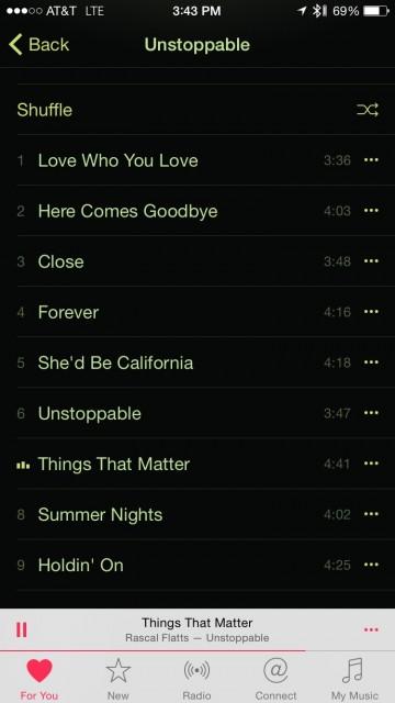 Rascal Flatts Unstoppable album song list