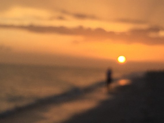 Blurry sunset photo