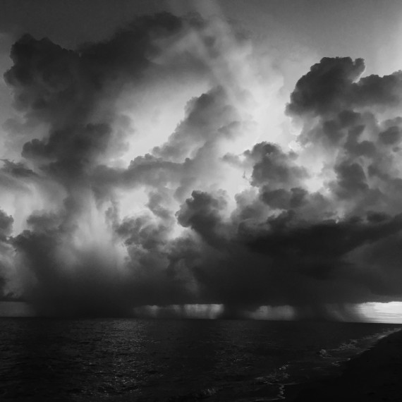 Sanibel sunset in black and white
