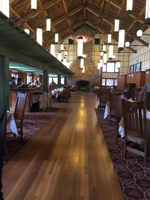 Ptarmigan Dining Room at Many Glacier Hotel