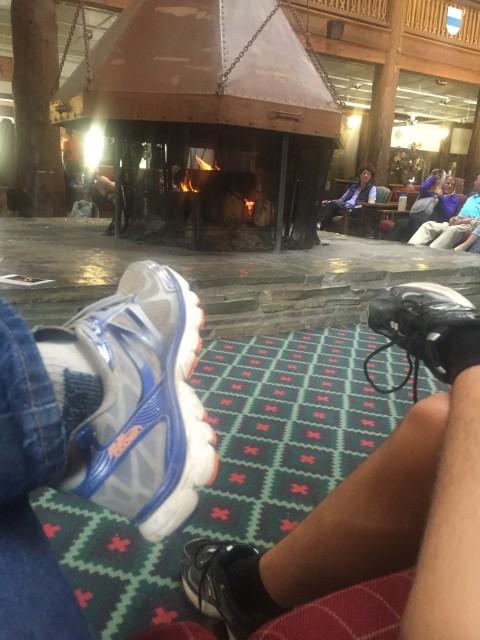 Many Glacier Hotel fireplace