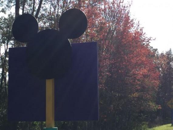 Disney World highway signage