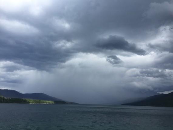 Glacier National Park Lake McDonald rainstorm