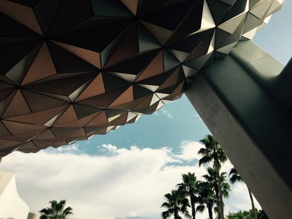 Spaceship Earth closeup