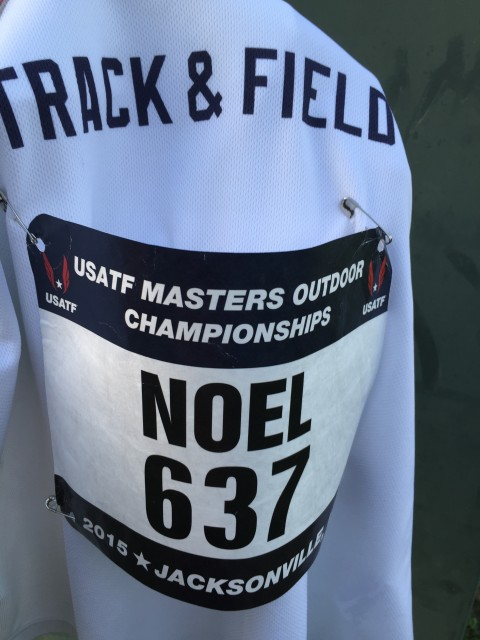 Masters Track 2015 race number