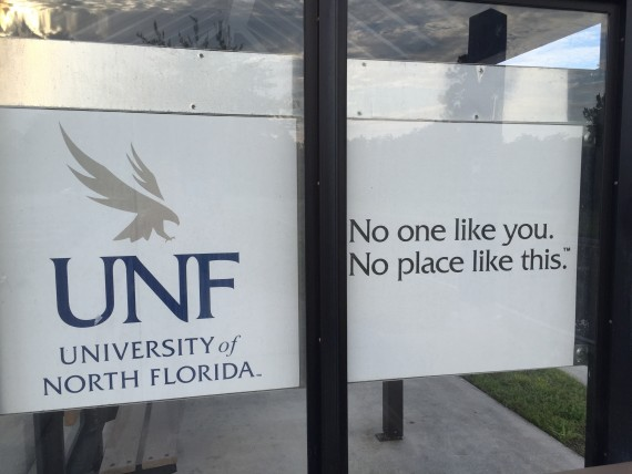University of North Florida entrance sign