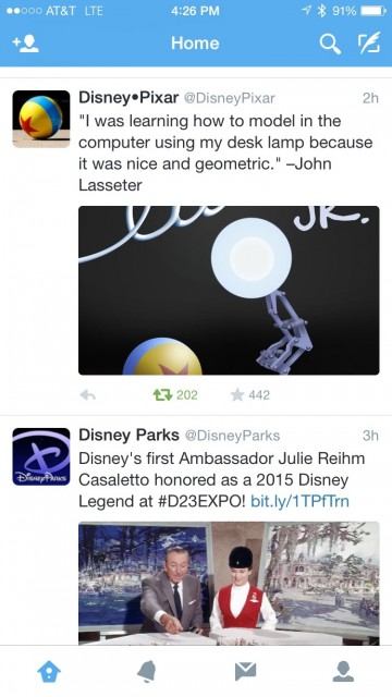 Disney Parks blog Twitter screen shot